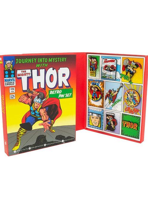 Thor retro pin badge set