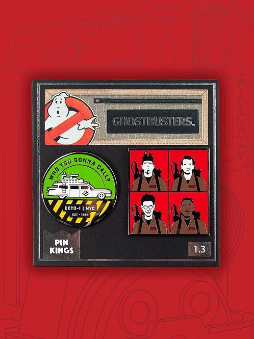 Ghostbusters Ecto pin badge set