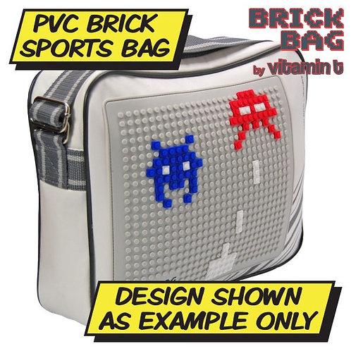Brick White and Grey Bag