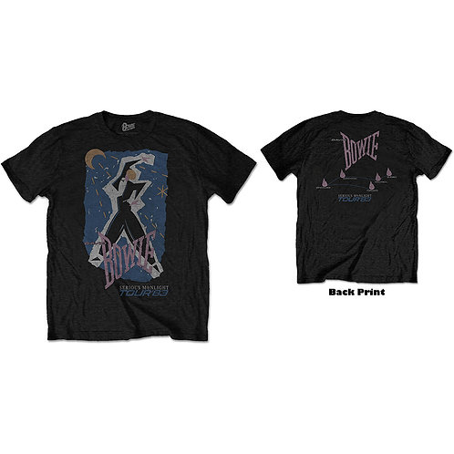 DAVID BOWIE UNISEX TEE: 83' TOUR (BACK PRINT