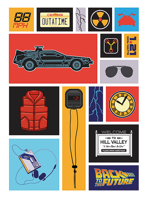 Back to the Future (Collection)  Canvas Print 60cm-80cm
