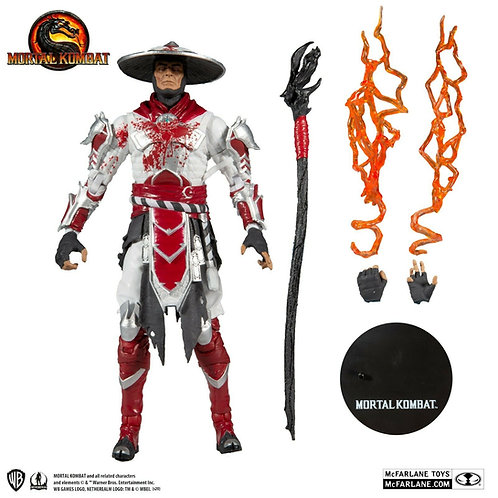 "Raiden Mortal Kombat (Bloody White-Hot Fury Skin) 7"" Action Figure"