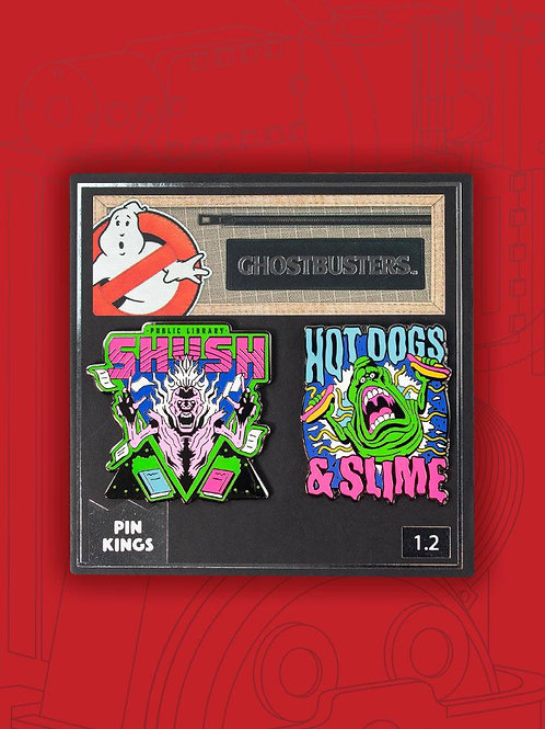 Ghostbusters slime pin badge set