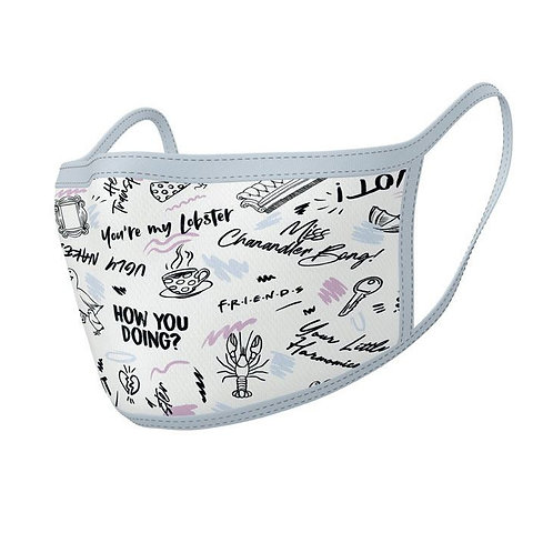 Friends sayings face mask 2Pack
