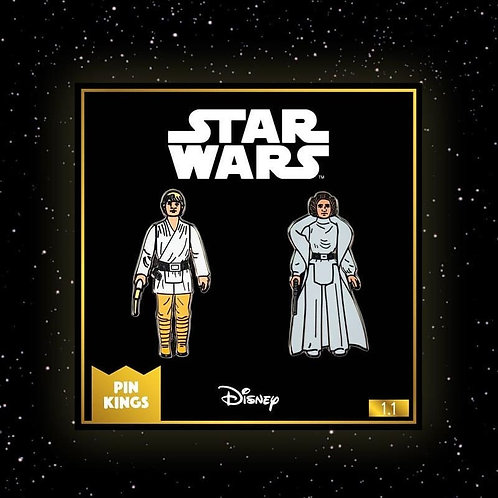 Starwars pin badges Luke and Princess Leia