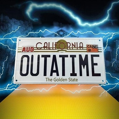 Back to the Future OUTATIME Number plate