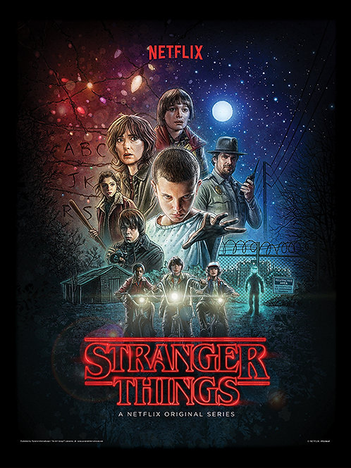 Stranger Things (One Sheet)  Framed 30 x 40cm Print