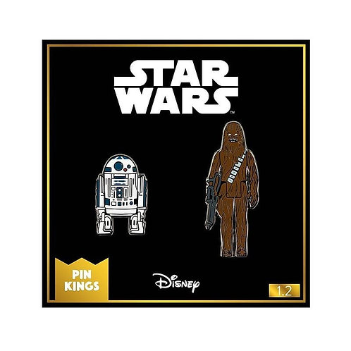 Starwars pin badges R2D2 and CHEWIE