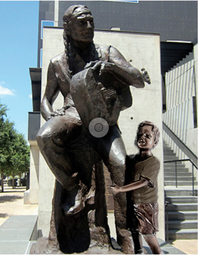 Willie Nelson with child (ATX)