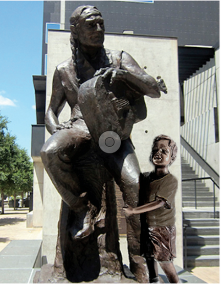 Willie Nelson with child (ATX)