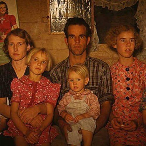 Original: Recolored image of homesteaders