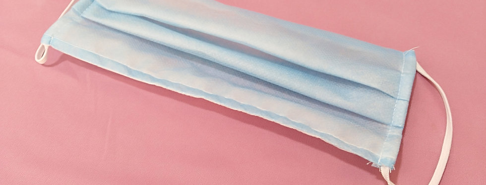 Cubrebocas tricapa con pliegues (caja)