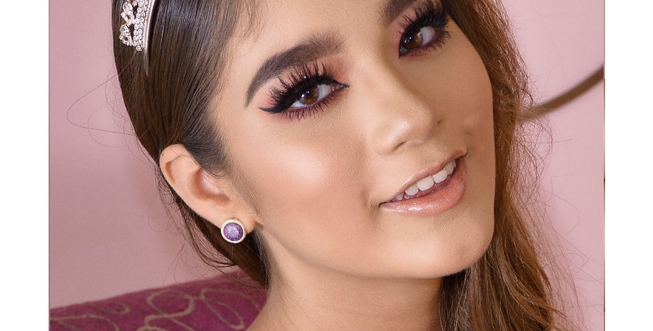 Tiara Novia rose gold chica moñitos