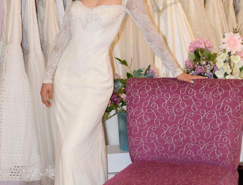 Vestido de novia de encaje stretch
