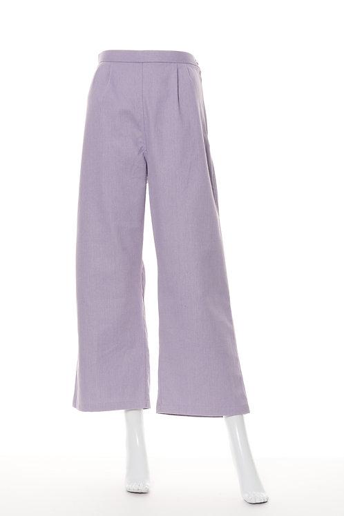 ソフトデニムワイドパンツ パープル Soft Denim Wide Pants PP