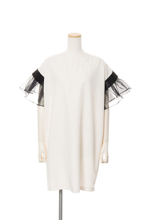 グログランオーガンジーワンピース W&B Grosgrain Dress