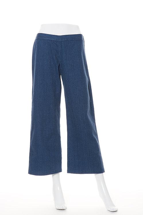 ソフトデニムワイドパンツ Soft Denim Wide Pants Dark Blue