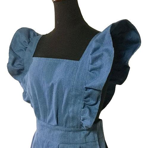 フリルジャンパースカート Frill Jumper Skirt Denim