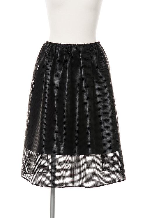 メッシュダブルスカート ブラック Mesh Double Skirt