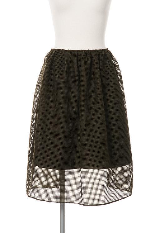 メッシュダブルスカート カーキ Mesh Double Skirt