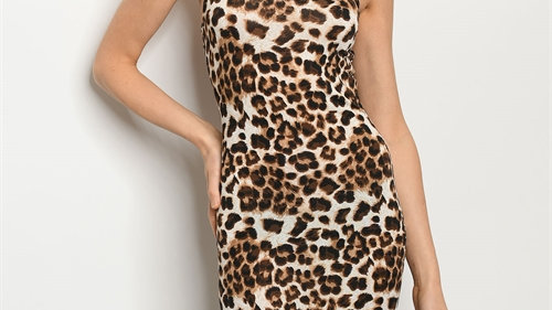 Leopard Fitted Dress