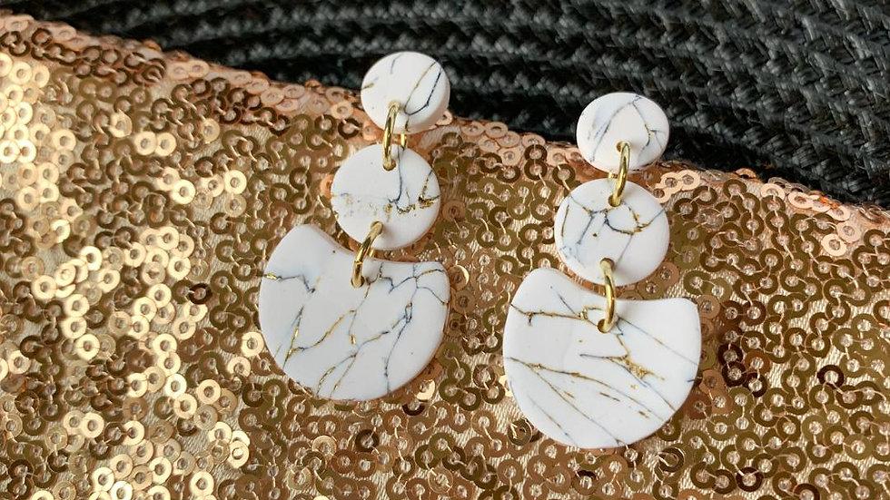White Marble Amy Dangles-Restock