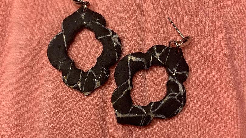 Black Marble Whitney Dangles