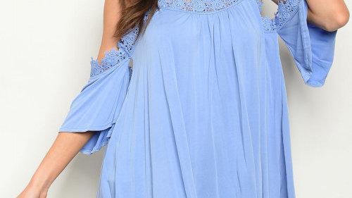 Blue Crochet Top