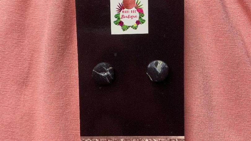 Black Marble Mini Alivia Studs