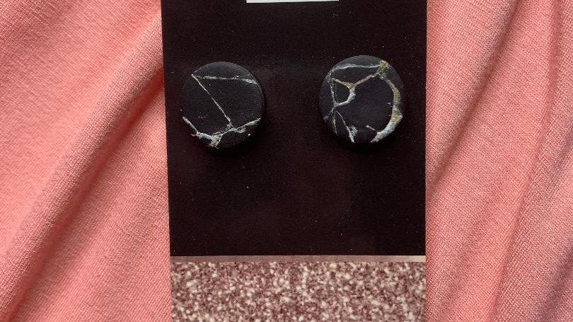 Black Marble Mega Alivia Studs