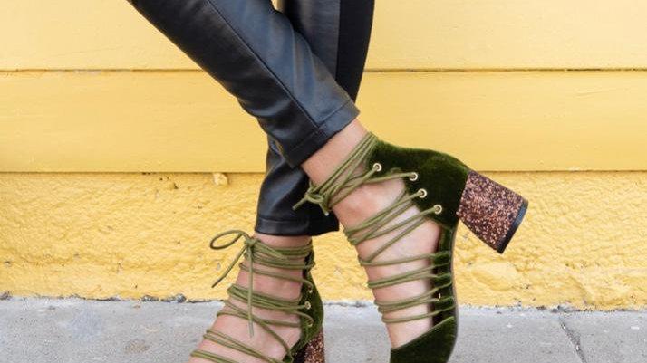 Mi.iM Palm Velvet Glitter Heel