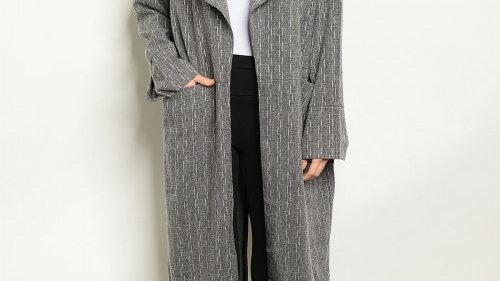 Grey & White Trench Jacket