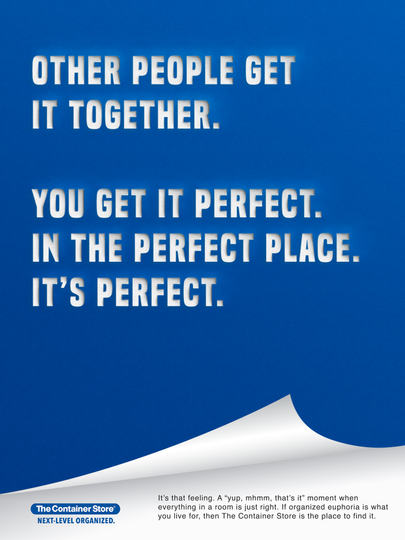The Container Store Print Ad