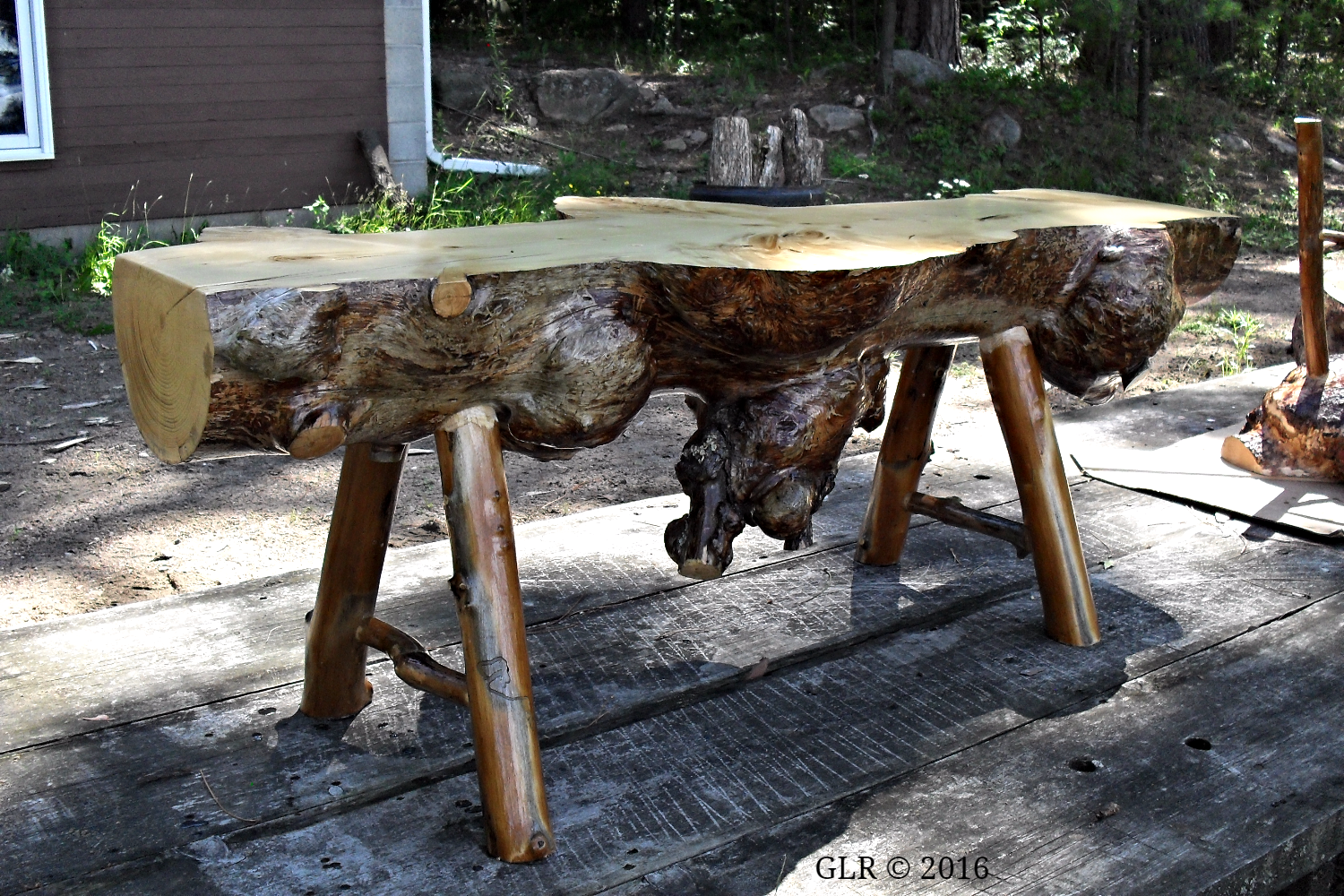 Burl Coffee Table