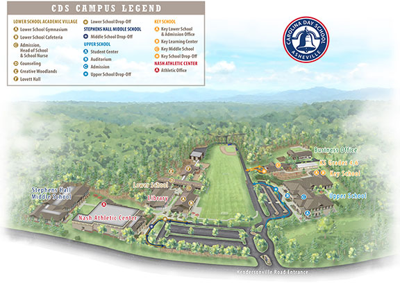 Carolina Day School Map