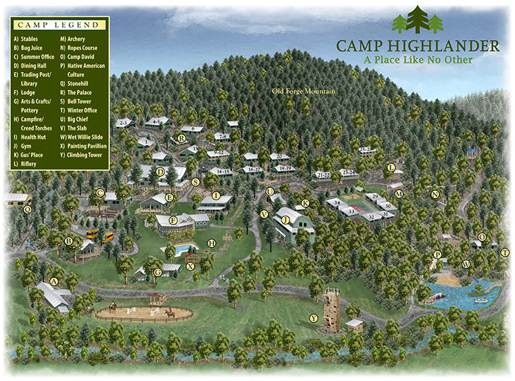 Camp Highlander Map