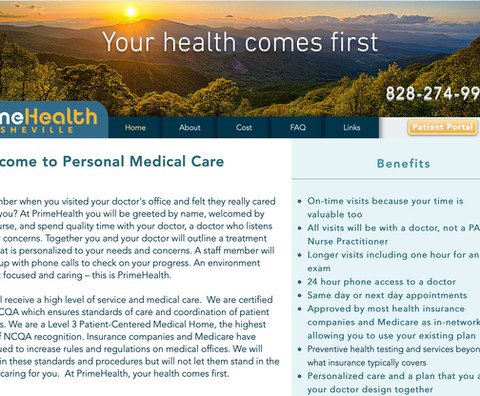 Prime Health Website