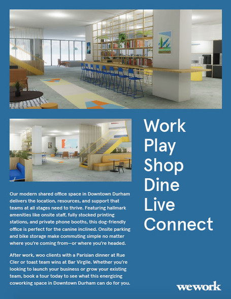 WeWork One-Pager, side A