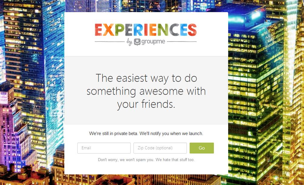 GroupMe Experiences
