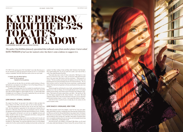 Winter 2017, Kate Pierson of the B52s