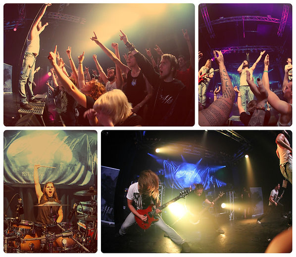 Live Collage Explo Graz Metalband Vinegar Hill / Austrian Artist