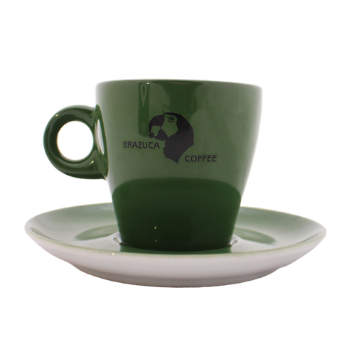 Brazuca cappuccino cup and saucer set