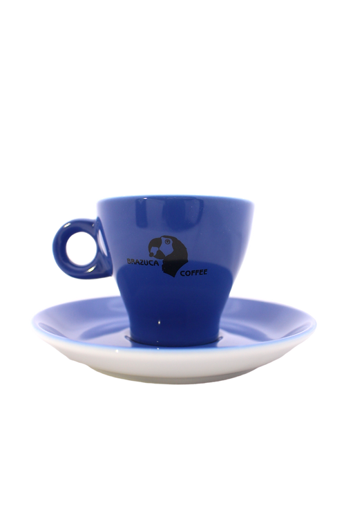 Brazuca espresso cup and saucer set