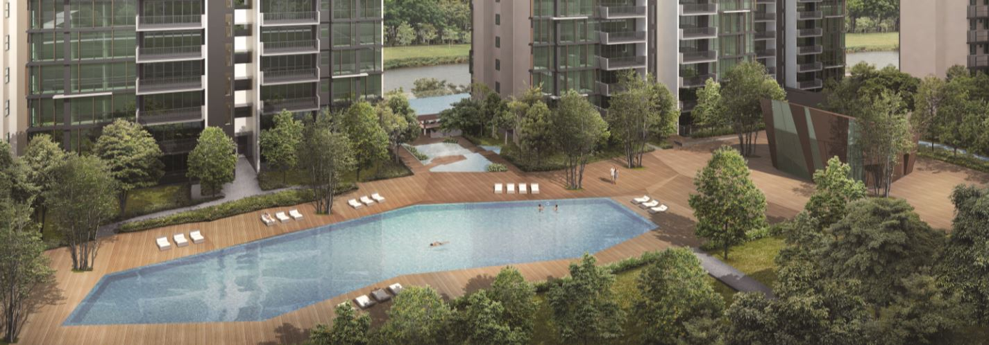 The terrace origami pool and clubhouse