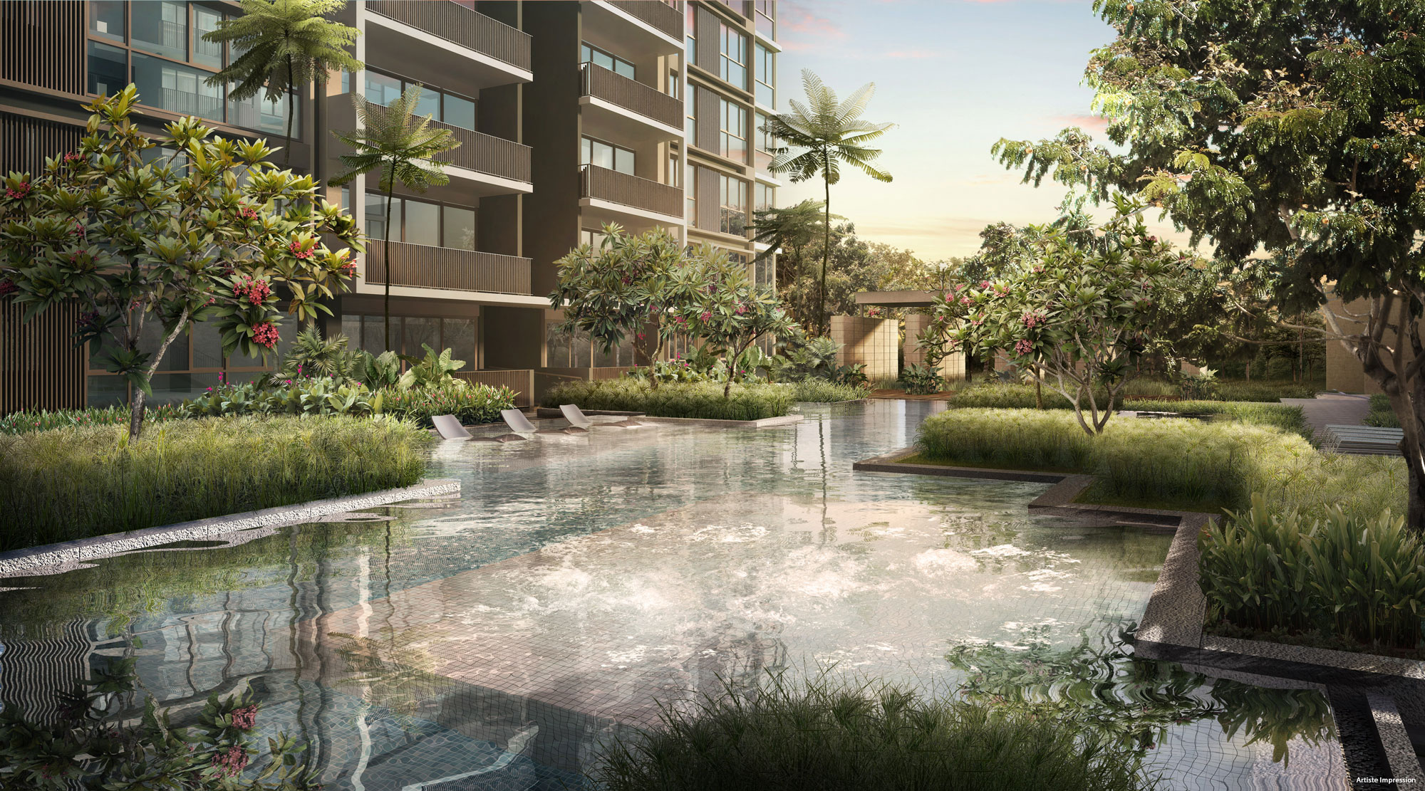 Bellewaters - Boutique Water Stream featuring Spa House
