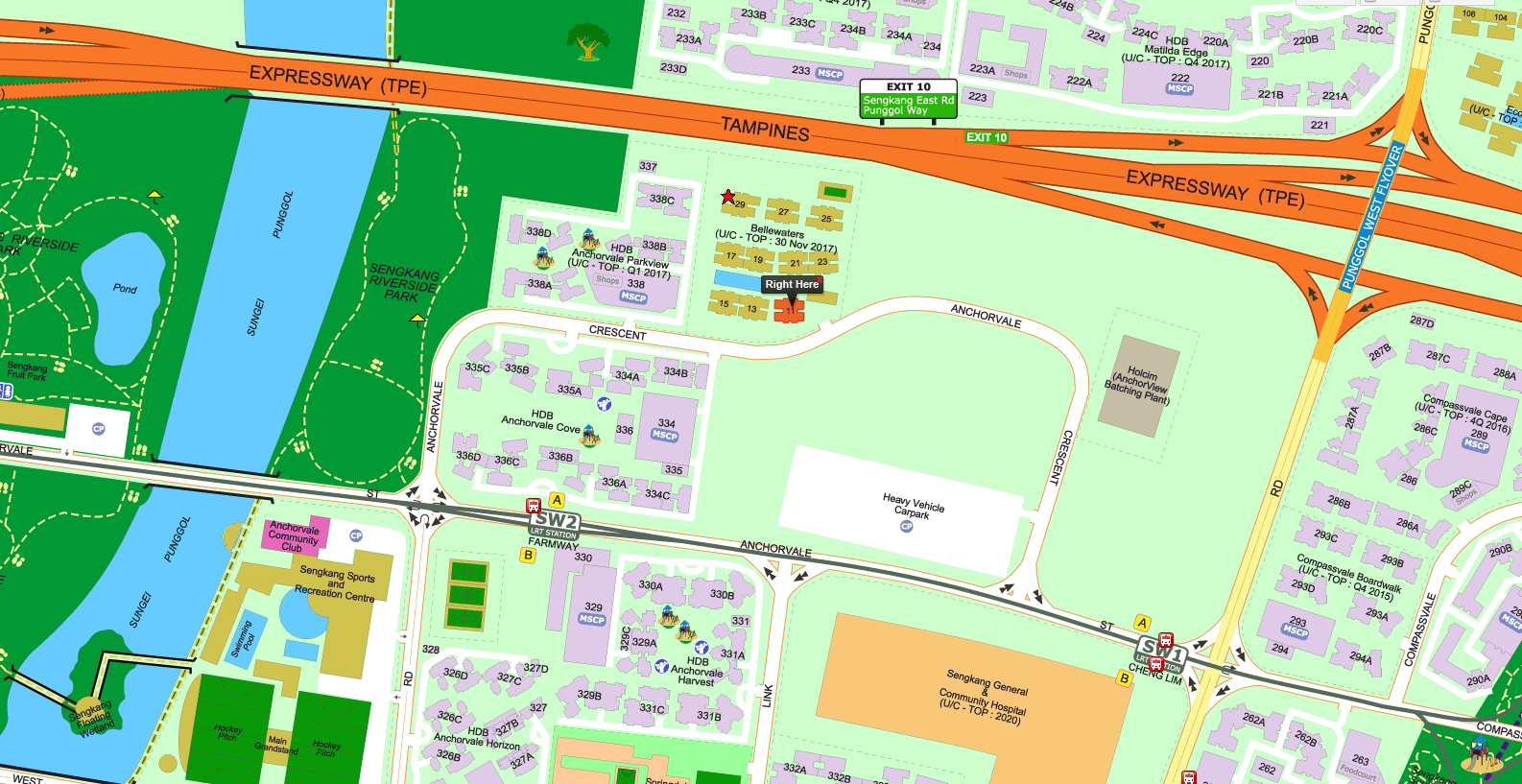 Bellewaters Location Map