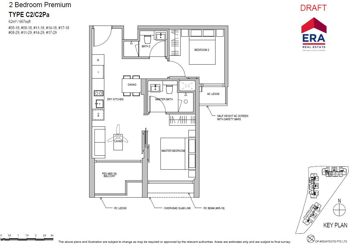 Park Place Residences 2BR Premium C2 667sqft