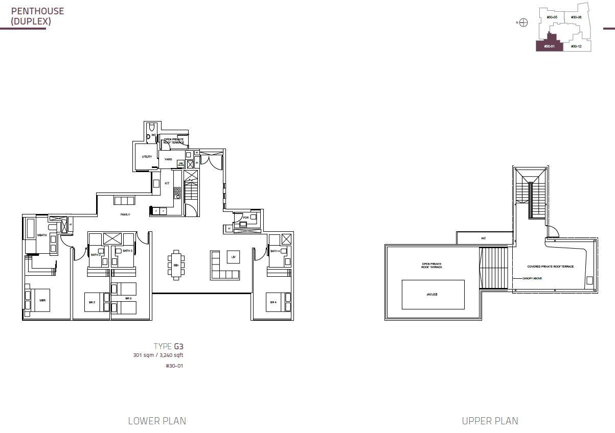 Cairnhill Nine PH Duplex  G3  3240sqft