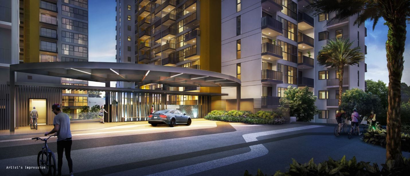 Westwood Residences entrance dropoff point