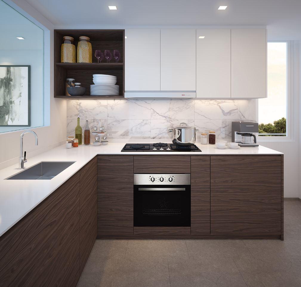 The terrace modern kitchen